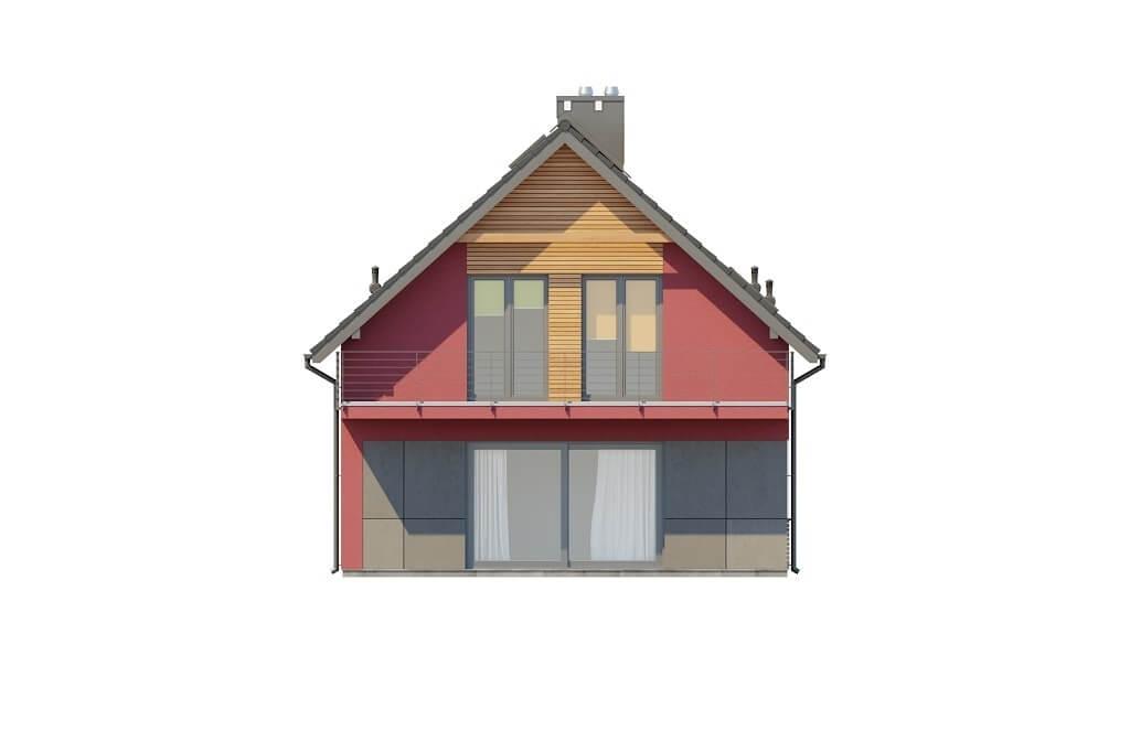 Projekt domu L-6656 - elewacja