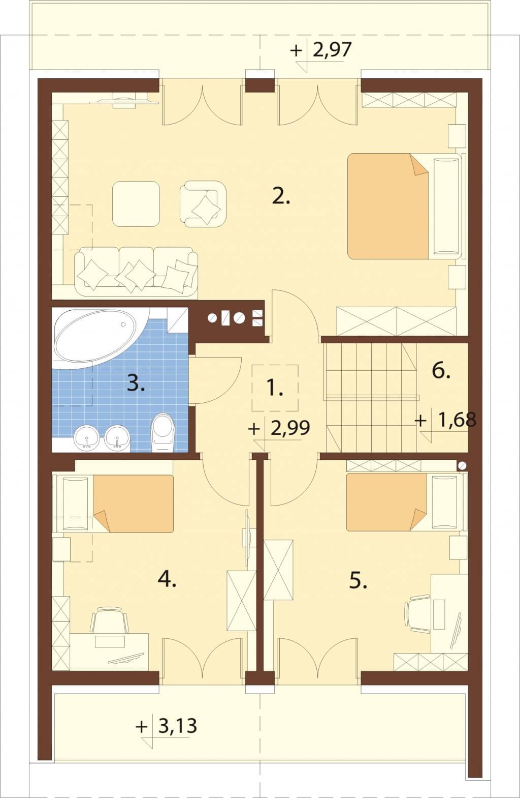 Projekt domu L-6656 - rzut