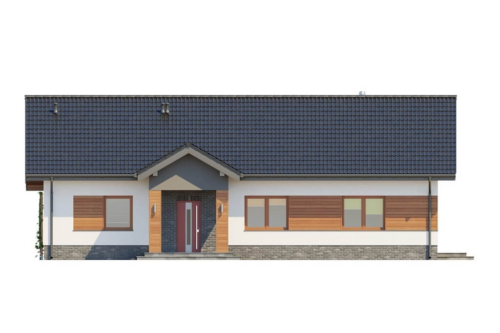 Projekt domu L-6657 - elewacja