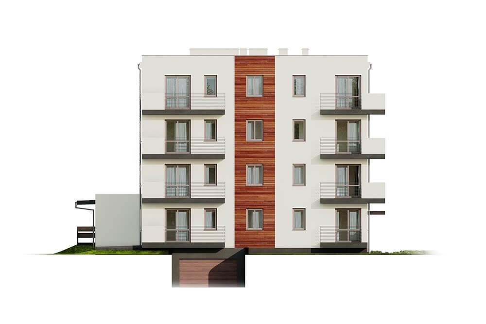 Projekt domu DM-6496 B (DP) - elewacja