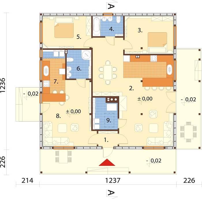 Projekt domu L-6617 - rzut