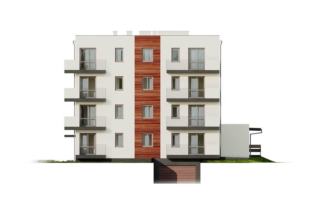 Projekt domu L-6496 B (DP) - elewacja