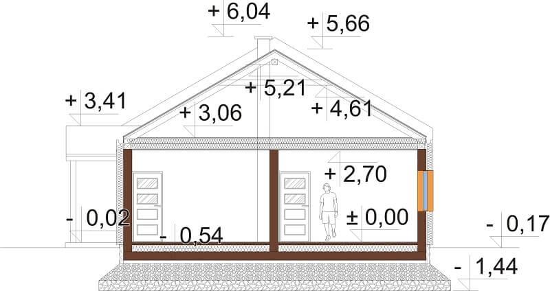 Projekt domu DM-6676 - przekrój