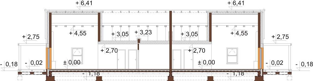 Projekt domu DM-6650 - przekrój