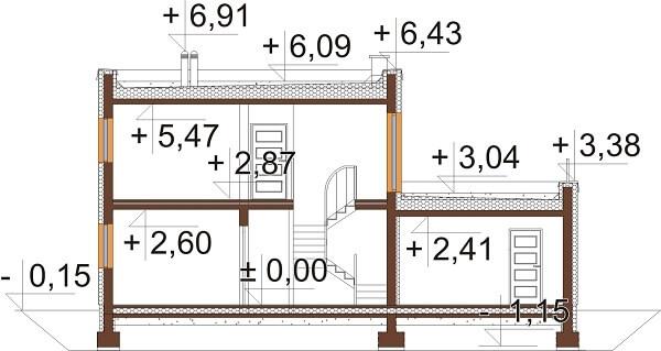 Projekt domu DM-6644 - przekrój