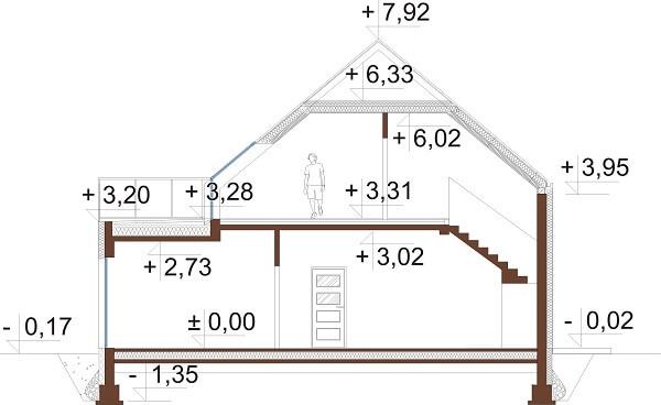 Projekt domu DM-6659 - przekrój