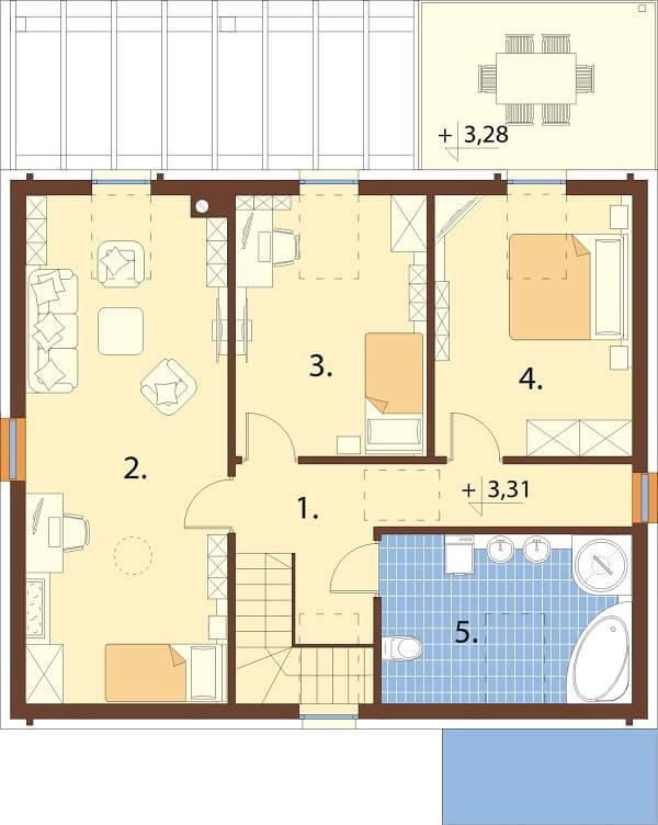 Projekt domu DM-6659 - rzut