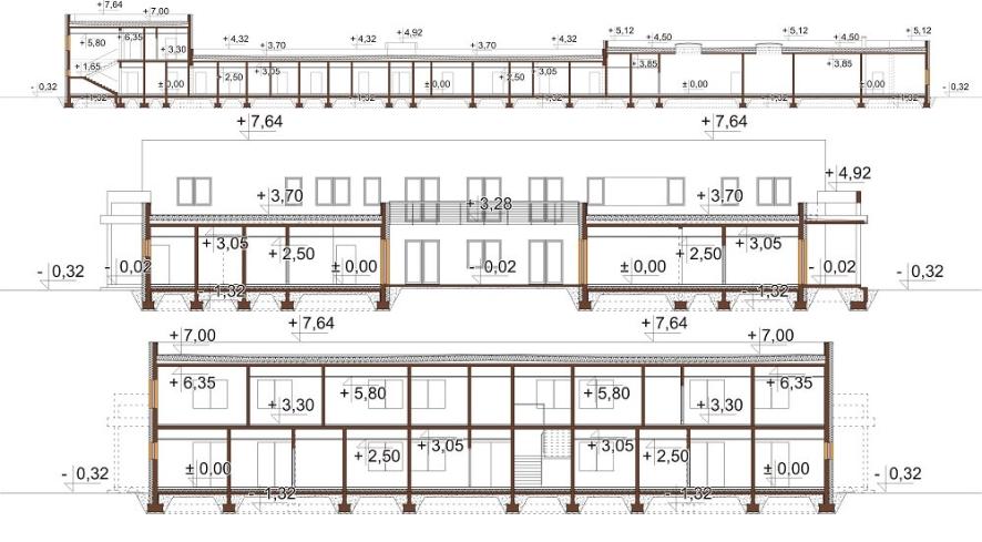 Projekt LK-109 - przekrój