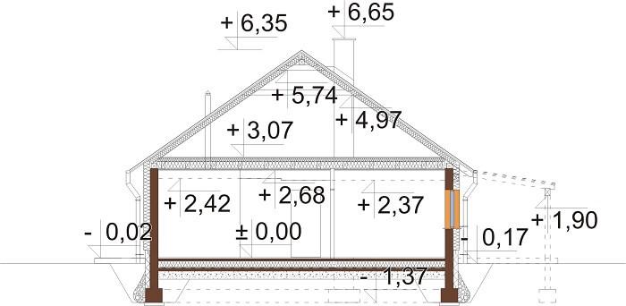 Projekt domu DM-6660 - przekrój