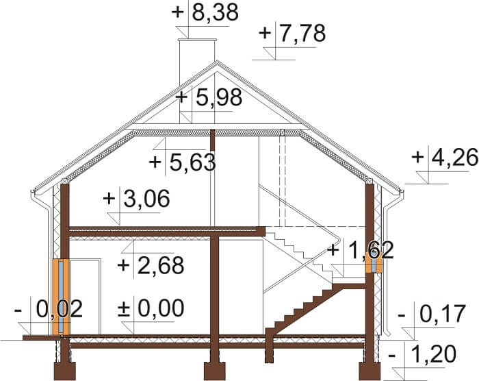 Projekt domu DM-6648 - przekrój