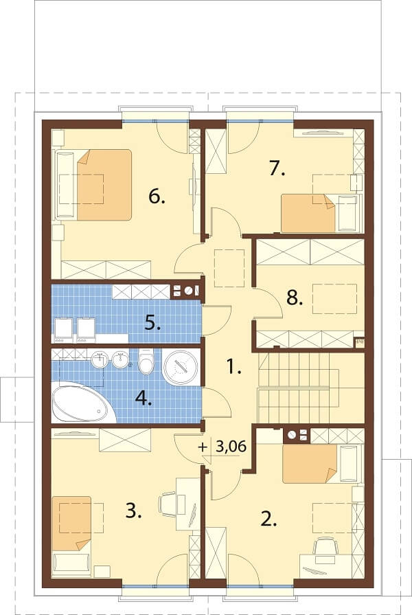Projekt domu DM-6648 - rzut