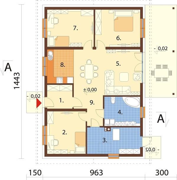 Projekt domu L-6660 - rzut