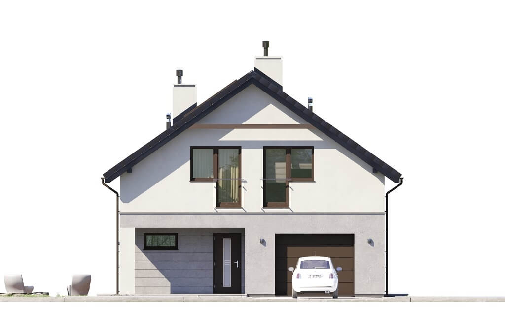 Projekt domu L-6648 - elewacja