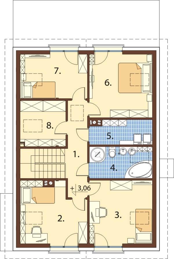 Projekt domu L-6648 - rzut