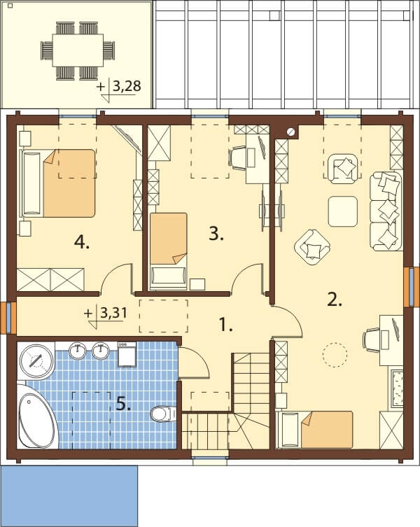 Projekt domu L-6659 - rzut