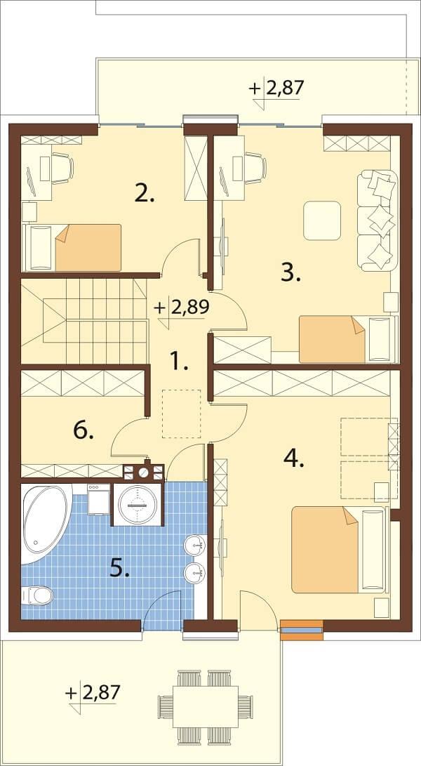 Projekt domu L-6663 - rzut