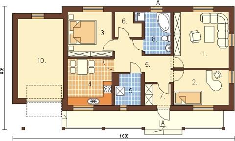 Projekt domu DM-6307 - rzut