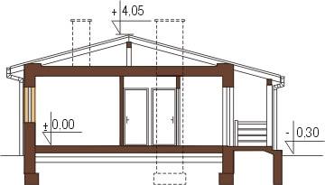 Projekt domu DM-6307 - przekrój
