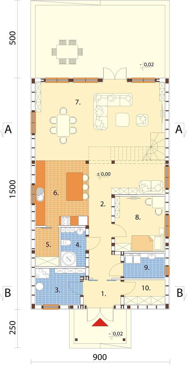 Projekt domu DM-6658 - rzut