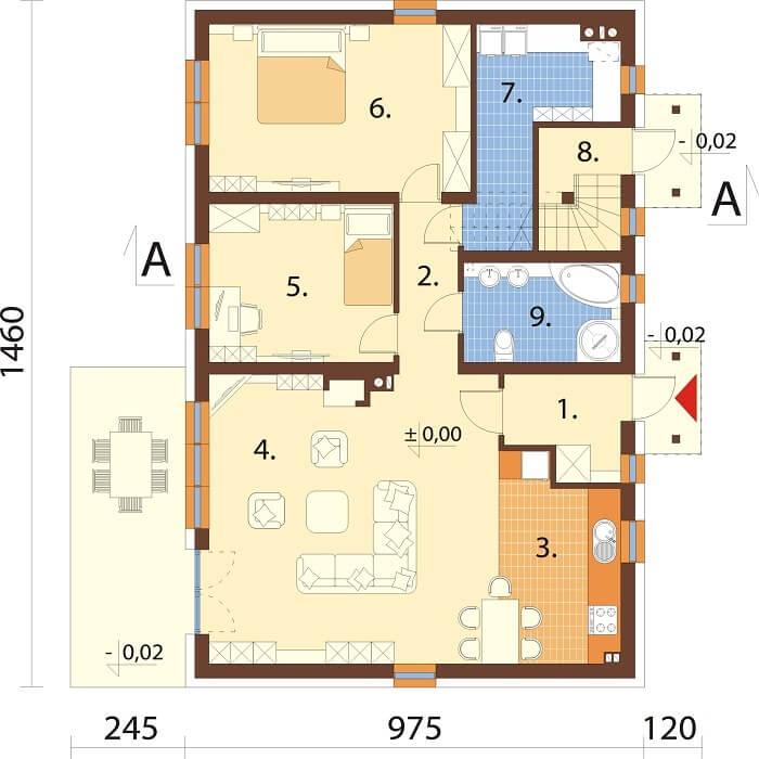 Projekt domu DM-6671 - rzut
