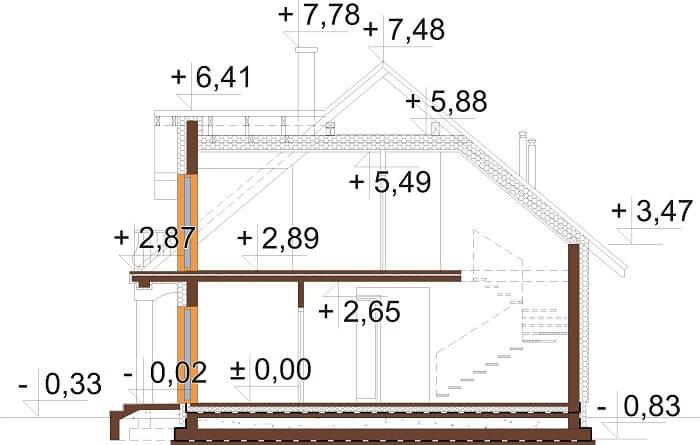 Projekt domu DM-6677 - przekrój