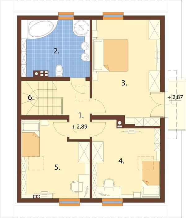 Projekt domu DM-6677 - rzut