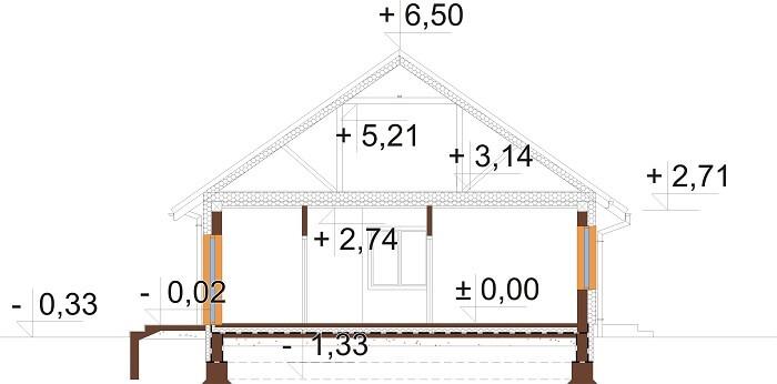 Projekt domu DM-6678 - przekrój