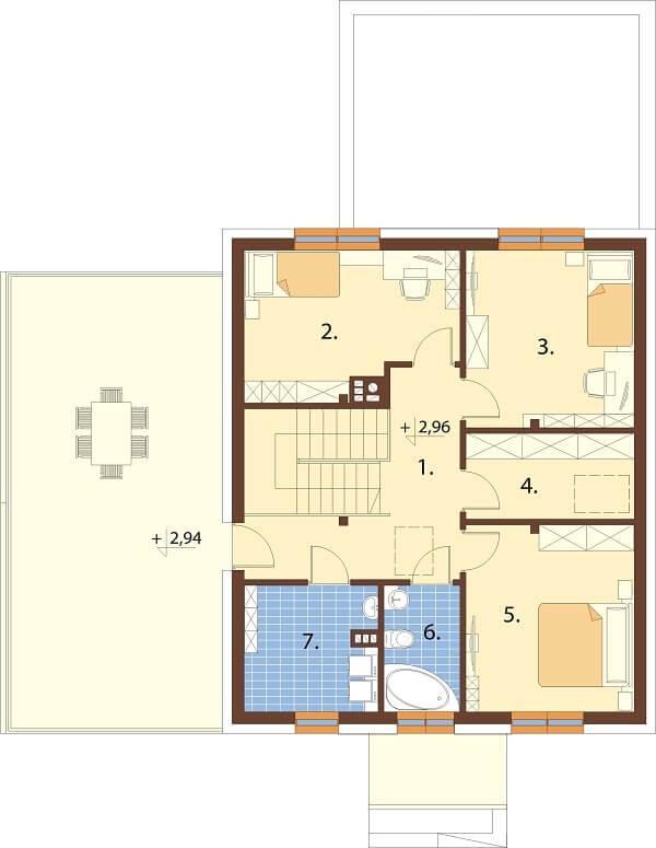 Projekt domu DM-6675 - rzut