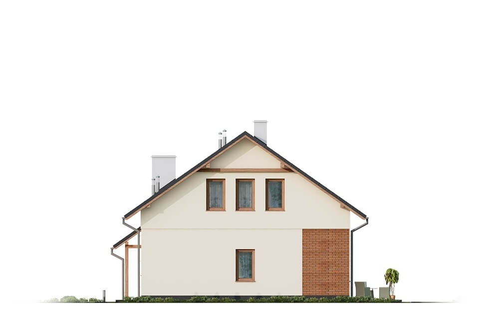 Projekt domu L-6671 - elewacja