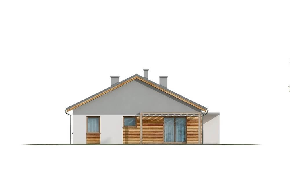 Projekt domu L-6661 - elewacja