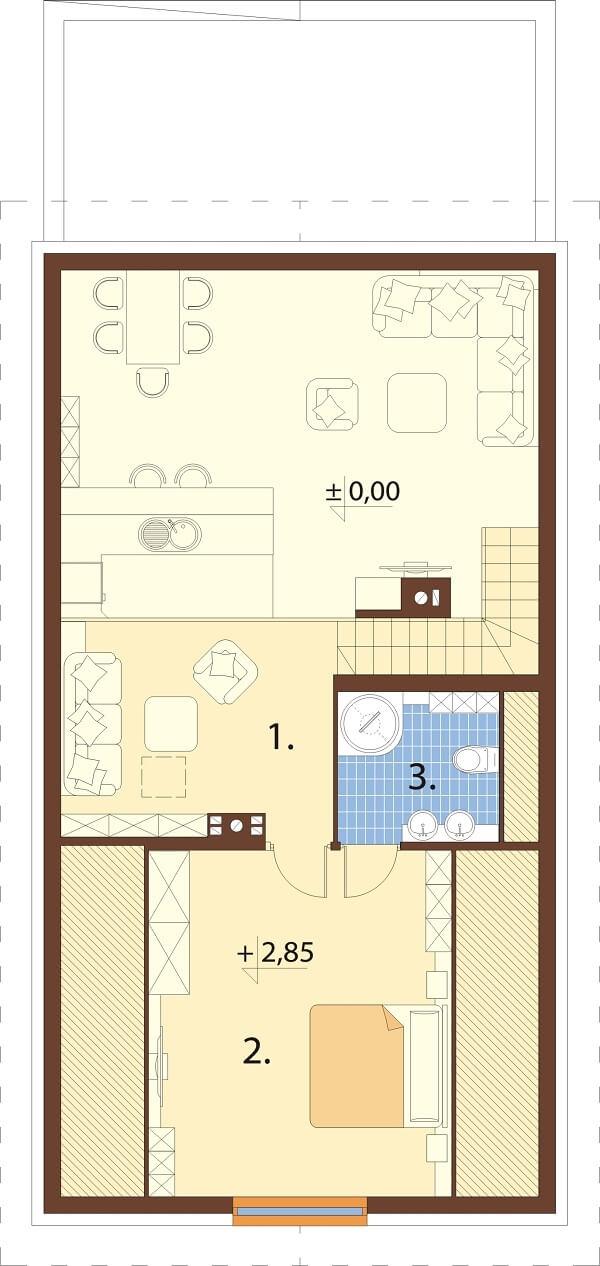Projekt domu L-6662 - rzut
