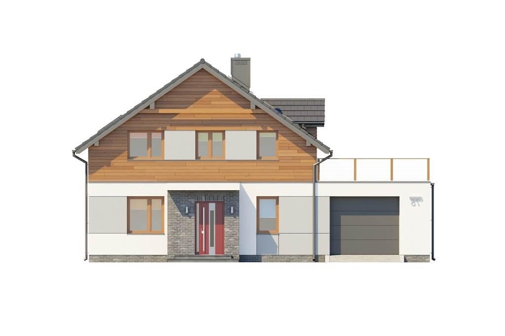 Projekt domu L-6675 - elewacja