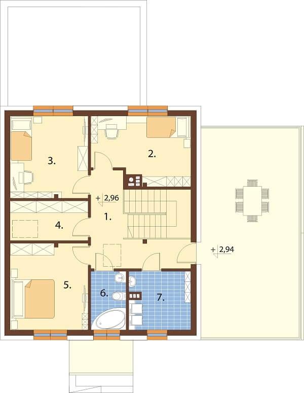 Projekt domu L-6675 - rzut