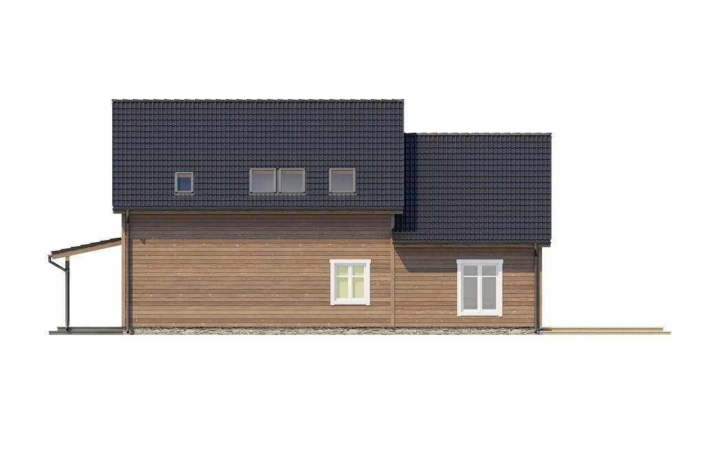Projekt domu L-6658 - elewacja