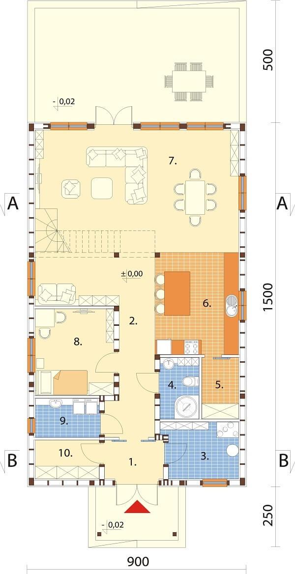 Projekt domu L-6658 - rzut