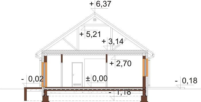 Projekt domu DM-6691 - przekrój