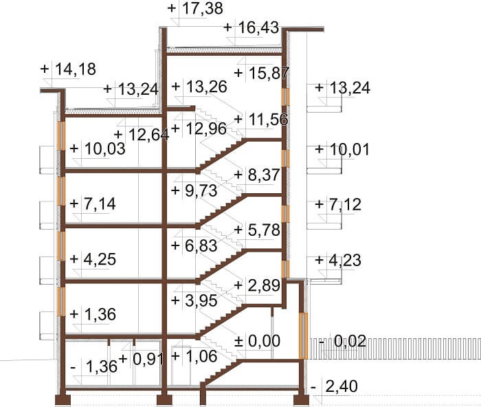 Projekt domu DM-6670 - przekrój