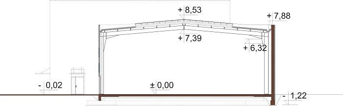 Projekt K-119 - przekrój