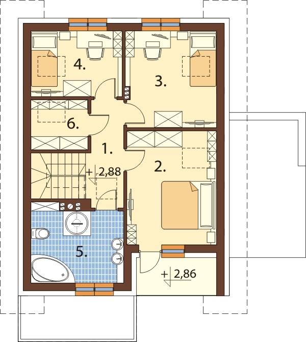 Projekt domu L-6664 - rzut