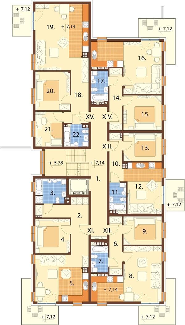 Projekt domu L-6670 - rzut