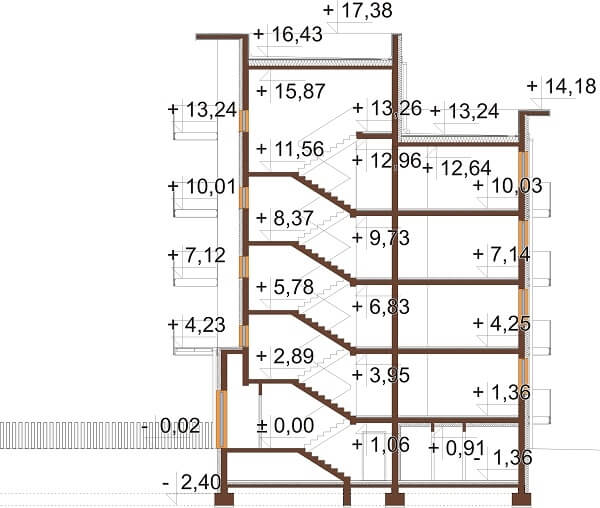 Projekt domu L-6670 - przekrój