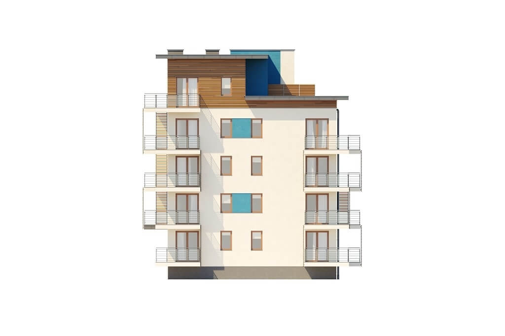 Projekt domu L-6670 - elewacja