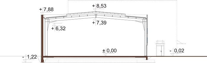 Projekt LK-119 - przekrój