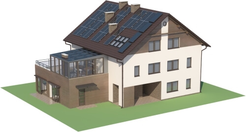 Projekt domu DM-6493 - model