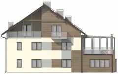 Projekt domu DM-6493 - elewacja