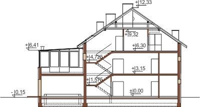 Projekt domu DM-6493 - przekrój