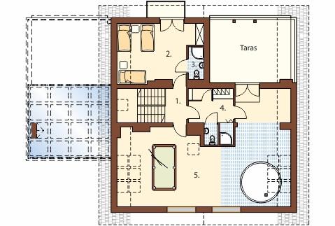 Projekt domu DM-6493 - rzut