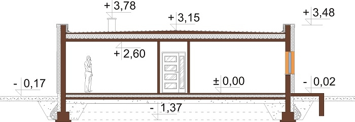 Projekt domu DM-6643 - przekrój