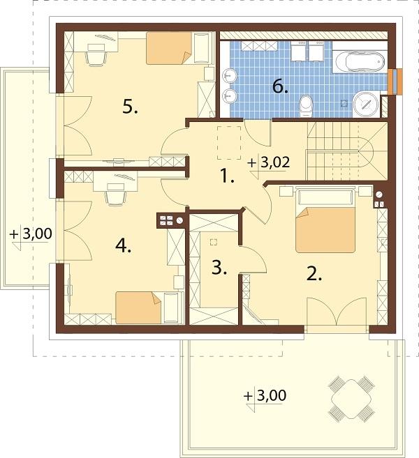 Projekt domu DM-6673 - rzut