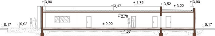Projekt domu L-6688 - przekrój